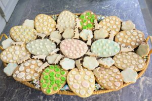 These cookies, from yet another Easter celebration, are all decorated with polka dots - some on iced cookies, and others on the cookies themselves. I hope I've inspired you to make some homemade sugar cookies for your Easter celebration. Share your comments with me in the section below. And enjoy the video! You can also see it on my Instagram page @marthastewart48 and on our web site at marthastewart.com.