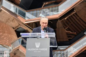 Senator Chuck Schumer also spoke and acknowledged all those who worked so hard on this project over the last 10-years.