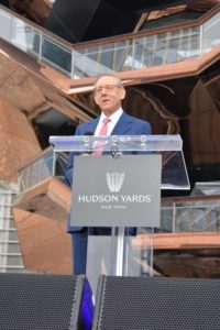 Hudson Yards' co-developer, Stephen Ross, said he was so proud of this structure, the new neighborhood, and what they will bring to the City of New York. Vessel is also a temporary name for the 150-foot-high, 200-million dollar construction — a final name is up for public input.