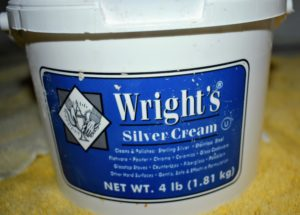 I've used Wright's Silver Cream for years. Wright's Silver Cream is a gentle all-purpose polish that works on all types of silver. It also works nicely on stainless steel and chrome. http://jawright.com/Silver-Clean-Polish/Silver-Cream-4-lb