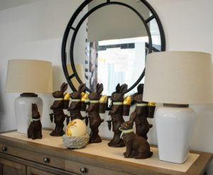 If you saw my appearances on QVC last week, you probably saw these whimsical faux chocolate bunnies - perfect decorations for Easter. These are from my Bedford Collection, which also includes an array of wonderful decorating items for your home.