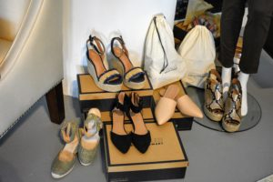 All my shoes are fashioned after shoes from my own closet - I love these shoes available at Aerosoles.
