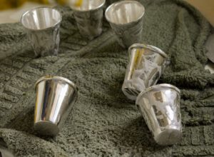 The pieces are washed and cleaned with the silver cream and the vibrant silver glow returns.