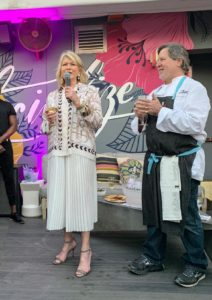 Later that evening, I hosted a Wine & Cheese Happy Hour sponsored by Carr's Crackers. I welcomed everyone to the event and spoke about the festival. I've been participating at SoBe since 2007 and have so many fond memories from all the events over the years.