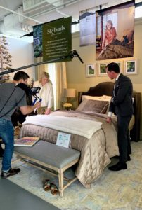 As many of you know, I also hosted a special Facebook LIVE to unveil these collections. Here, Kevin and I show a sample of the elegant bedding from my Skylands Collection. If you missed the broadcast, just click on the highlighted link above.