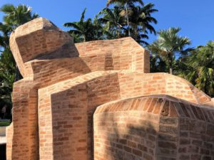This installation is made of Mexican brick and has a total length of 48-feet.