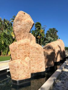 This was the last sculpture whose construction was overseen by Ann. Its silhouette was inspired by the Himalaya Mountains, which Ann loved to visit during her trips to India and Nepal.