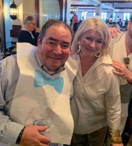 So many others were also there - here I am with our own Chef Emeril Lagasse.