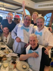 And here's a group photo of chefs Geoffrey Zakarian, Marcus Samuellson, Emeril, Bobby Flay, Scott Conant and Drew Nieporent.