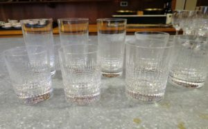 Cheryl and Gretchen also tackled my large collection of Baccarat cut crystal glasses.