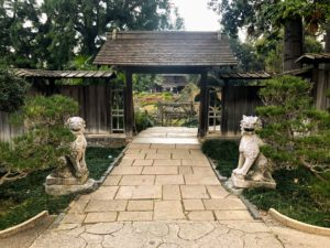 This is the entrance to Japanese Garden. For more than a century, the historic Japanese Garden has been one of the most beloved and iconic landscapes at The Huntington.
