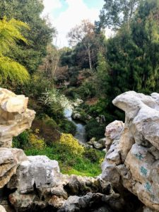 This is the Japanese Garden canyon. The rock formation is called Cascade of Resonant Bamboo (Zhu Yun Quan).