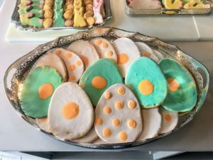 "Last Easter, I made dozens and dozens of egg cookies with these fun ""yolk"" centers. See exactly how it's done in the video below."