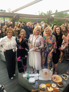 This cocktail reception was also sold out - 300-people attended. I was so happy to see so many guests there. Here I am with friends Lis, Daisy, Susan and Allyn. It's always so much fun at SoBe - I can't wait to return next year!