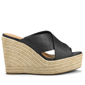 These shoes have strong raffia criss-cross uppers and an attractive silhouette.