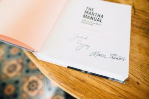 I always try to be as personal as possible when signing books. It is a detail I have always considered very important. (Photo courtesy of Soho Beach House)
