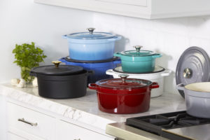 These Enameled Cast Iron Ombre Dutch Ovens are also from Macy's - a perfect gift for anyone who loves to cook.