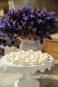 For a sweet ending to the Easter or Passover meal, lightly baked meringue is crowned with lemon curd. It is also very delicious filled with jam or fresh berries!
