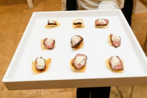 And these sliced filet mignon on potato gaufrettes - everything was delicious. (Photo by Neil Rasmus, BFA)