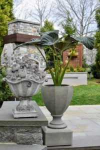 Keep it closed and it looks great on a stone wall next to my Faceted Urn Planter.