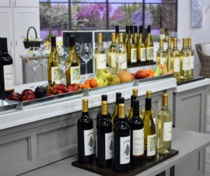 I also showed four wines. I taste every single wine that we include at Martha Stewart Wine Co. These are some of my personal favorites.