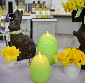 You can plan your entire Easter celebration with items from my collections. These flameless candles come in a variety of gorgeous colors.