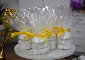 These dense shortbread cookies can also be packaged and given as a hostess gift or as a favor for all your guests to take home - everyone will love them.