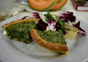 And here is the Spinach and Cheddar Quiche. An outstanding quiche relies on a creamy egg custard, a buttery homemade crust, and flavorful cheese and vegetables - both quiches are excellent.