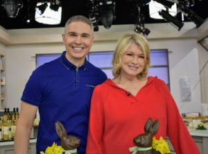 Here I am with QVC host, Alberti Popaj. We had so much fun sharing all my new gourmet food items during this show. I am wearing my new Hooded Pullover Sweater. I love this sweater. It comes in flag red, navy and white - it combines the comfort of a classic knit and the convenience of an attached hood for chilly evenings.