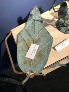 Kevin Sharkey, who attended the Fair with me, took this photo of a bronze leaf - it can be hung on the wall as an art piece or placed on a table.