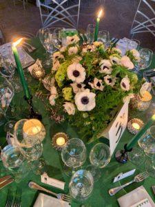 Floral designs and tables were created by Lewis Miller Designs in Manhattan. https://lewismillerdesign.com/