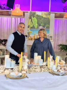 Here we are showing different candles as part of a table setting - they look so pretty.