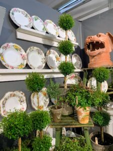 The Fair includes a variety of 18th, 19th and early 20th-century garden antiques, architectural elements and accessories from both Europe and America. Here is a collection of botanical plates from More & More Antiques in New York City. http://www.moreandmoreantiquesnyc.com