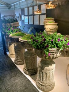 Here are some other stone planters from David Bell – many of the planters are already filled with lovely specimens.