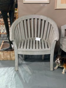 I also liked this garden chair from Village Braider Antiques in Plymouth, Massachusetts - a family owned business that's been selling antique elements for more than 35-years. https://www.villagebraider.com/