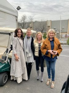 In this photo, I'm joined by CEO and President of the New York Botanical Garden, Carrie Rebora Barratt, and two antiques dealers.