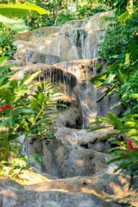 In Jamaica, you'll visit Konoko Falls - one of Jamaica's best-kept secrets and home to a zoo, an indigenous cultural museum and one of Jamaica's largest collections of flowering plants.