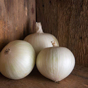 Although the white onion makes up only five percent of the American onion harvest, it is the all-purpose onion. It has pure white skin and sweet, mild white flesh. White onions are commonly used in sauces, pasta salads, and in Mexican and Southwestern cuisines. 'Sierra Blanca' onions are large, white-skinned onions with mild flavor and thick rings. They are great for salads, slices, onion rings, and frying. (Photo from Johnny's Selected Seeds)