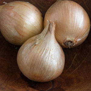 'Alisa Craig' onions are sweet and mild with excellent size potential. They are grown to be jumbo to colossal, round to teardrop-shaped bulbs with light-yellow skins. Use them fresh or for short-term storage. (Photo from Johnny's Selected Seeds)