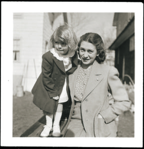 Here I am with my mother - dressed in our Sunday best.