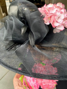 This is the view from above Susan's black and pink hat. It is adorned with a pink hydrangea she picked from her terrace early that morning. There were so many unique and interesting hats at the event that raised more than four-million dollars for the park.