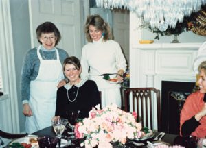 "This photo was taken after I launched my catering business and published my first bestseller, ""Entertaining"" - note who is wearing the apron."