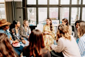 Special mentor sessions were set up with various businesswomen. This one is led by fashion editor, stylist, and writer Caroline Vazzana. (Photo by Bekah Linder)