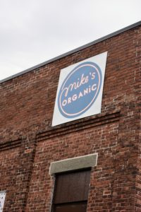 "Mike's Organic is located in an old, industrial warehouse building. It's been described as ""the underground market for cool kids""."