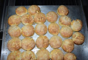 Here are the biscuits - hot and fresh from the oven.