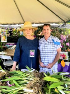 Here I am in the Odom's Orchids tent with the owner John Odom, who has been growing orchids for more than 50-years.