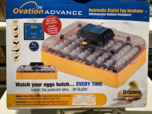 The manufacturer, Brinsea, was established in 1976 by an engineer passionate about breeding and caring for birds. This Ovation 56 Advance model includes a digital temperature and humidity display, automatic temperature controls and alarms, programmable automatic egg turning features, and an airflow system. This unit can hold up to 56-eggs depending on their size.