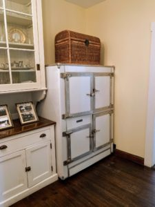 This icebox dates back to the 1920s and is original to the home.