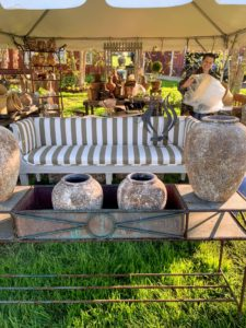 At the Privet House booth was this pretty settee. Privet House bills itself as 'An Emporium of Home Goods, Antiques and Curiosities'. Their displays are always very pretty. https://privethouse.com