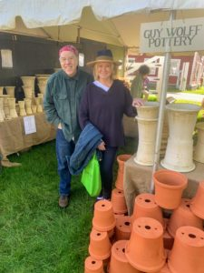 One of the vendors I always stop to see is master potter, Guy Wolff. His tent is always filled with beautiful pots. Guy's shop is in nearby Bantam, Connecticut. http://www.guywolff.com